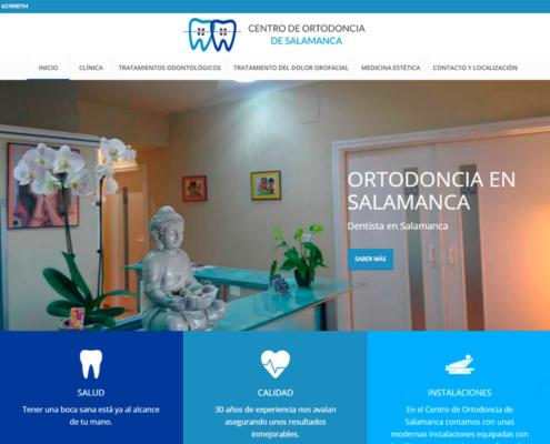 Página web Centro de ortodoncia de Salamanca